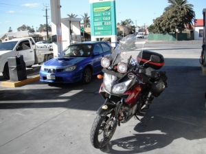 Nice looking chick in the car behind the bike. Oh that's right I married her almost 32 years ago. :)