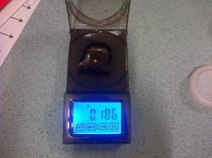 0.186 grams.